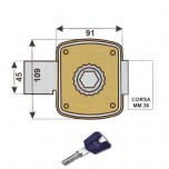 cr 1500 k55 serratura chiave sicurezza